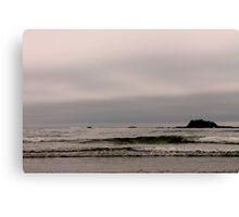 washington beach, approaching dusk. Canvas Print