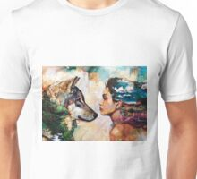 The Woman and the Wolf Unisex T-Shirt