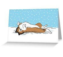 Snow Sheltie Holiday Greeting Card