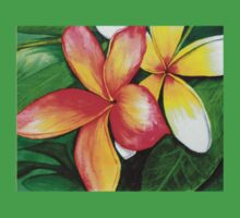 Frangipani T shirt by Linda Callaghan