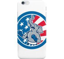 Republican Elephant Boxer Mascot Circle Cartoon iPhone Case/Skin