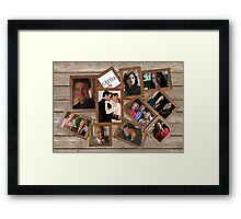 Castle collage frame Framed Print