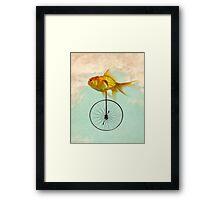 unicycle goldfish Framed Print