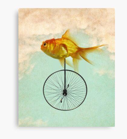 unicycle goldfish Canvas Print