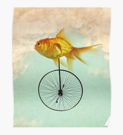 unicycle goldfish Poster