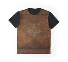 Antique Steampunk Compass Rose & Map Graphic T-Shirt