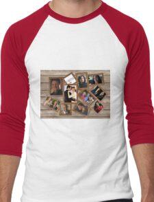 Castle collage frame Men's Baseball ¾ T-Shirt