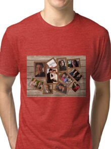 Castle collage frame Tri-blend T-Shirt