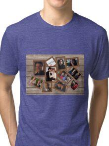 Castle collage frame Tri-blend T-Shirt