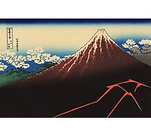 Hokusai Katsushika - Rainstorm Beneath the Summit Photographic Print