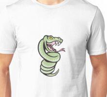 Rattle Snake Coiling Up Cartoon Unisex T-Shirt