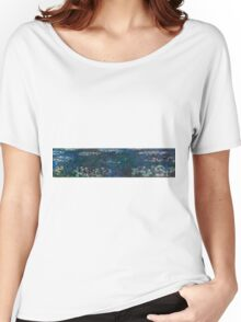 Claude Monet - The Water Lilies - Green Reflections (1915 - 1926)  Women's Relaxed Fit T-Shirt