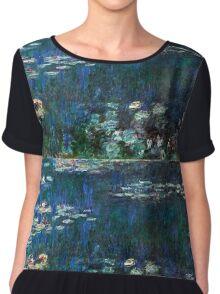 Claude Monet - The Water Lilies - Green Reflections (1915 - 1926)  Chiffon Top