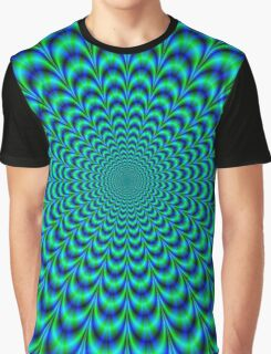 Pulse in Blue and Green Graphic T-Shirt