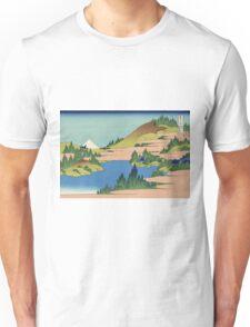 Hokusai Katsushika - The lake of Hakone in Sagami Province Unisex T-Shirt