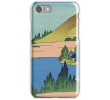 Hokusai Katsushika - The lake of Hakone in Sagami Province iPhone Case/Skin