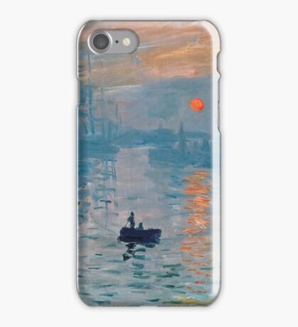 Claude Monet - Impression Sunrise 1872 iPhone Case/Skin