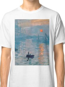 Claude Monet - Impression Sunrise 1872 Classic T-Shirt