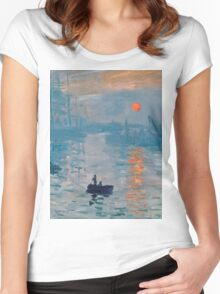 Claude Monet - Impression Sunrise 1872 Women's Fitted Scoop T-Shirt