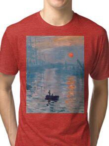 Claude Monet - Impression Sunrise 1872 Tri-blend T-Shirt
