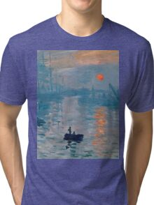 Claude Monet - Impression Sunrise 1872 Tri-blend T-Shirt