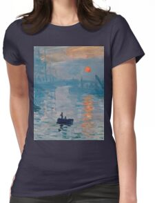 Claude Monet - Impression Sunrise 1872 Womens Fitted T-Shirt