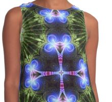 Indigo Light Green Mandala Contrast Tank