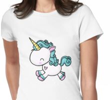 Prancing Unicorn Womens Fitted T-Shirt