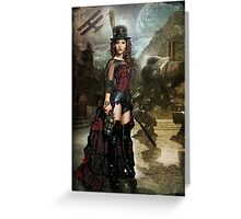 Steampunk Slayer Greeting Card