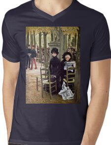 James Tissot - Without A Dowry  Mens V-Neck T-Shirt