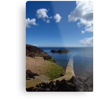 Crystal Clear Sea, Gorey, Jersey Metal Print
