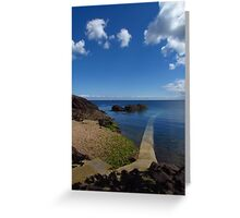 Crystal Clear Sea, Gorey, Jersey Greeting Card