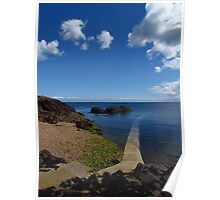Crystal Clear Sea, Gorey, Jersey Poster