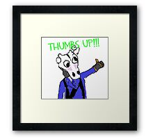 Thumbs up pyro Framed Print