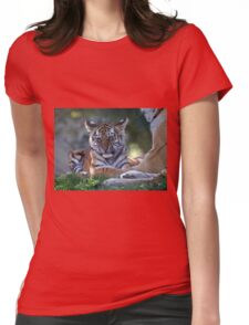 Baby Amur Tiger Womens Fitted T-Shirt