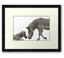 Nose to Nose Framed Print