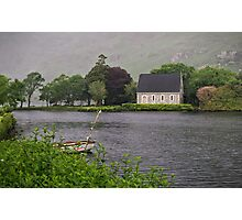 Chapel In The Mist - Gougane Barra - County Cork - Ireland Photographic Print