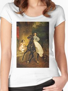 Karl Bryullov (Bryullo) - A Rider (1832)  Women's Fitted Scoop T-Shirt