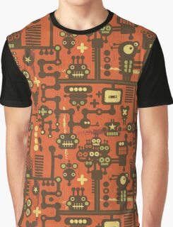 Robots red Graphic T-Shirt