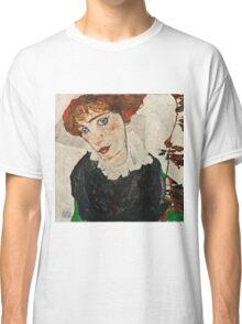 Egon Schiele - Portrait of Wally Neuzil (1912)  Classic T-Shirt