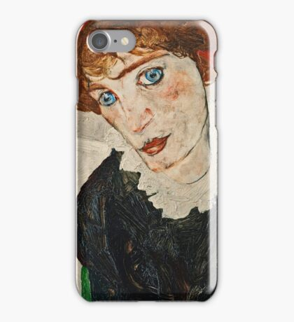 Egon Schiele - Portrait of Wally Neuzil (1912)  iPhone Case/Skin