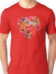 Heart colorful Unisex T-Shirt