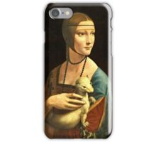 Leonardo Da Vinci - The Lady With An Ermine 1490  iPhone Case/Skin