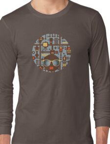 Robots blue Long Sleeve T-Shirt