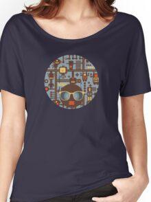 Robots blue Women's Relaxed Fit T-Shirt