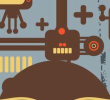 Robots blue Sticker