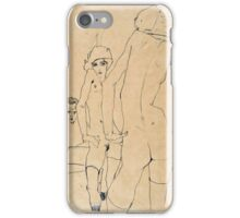 Egon Schiele - Schiele with Nude Model before the Mirror, 1910  iPhone Case/Skin