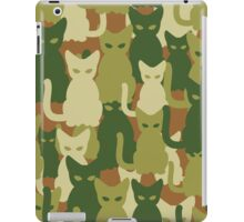 Military texture of cats iPad Case/Skin