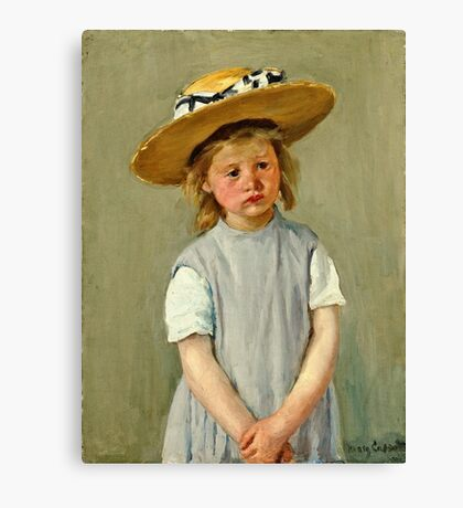 Mary Cassatt - Child In A Straw Hat 1886  Canvas Print