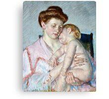 Mary Cassatt - Sleepy Baby ( 1910)  Canvas Print